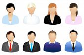 picture of people icon  - Set Of Business People Icons - JPG
