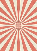 Sunlight Retro Narrow Vertical Background. Pale Red And Beige Color Burst Background. Fantasy Vector poster