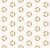 Golden Vector Geometric Seamless Pattern With Diamond Shapes. Simple Modern Minimalist Background. A poster