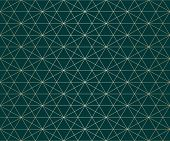Golden Lines Pattern. Vector Geometric Seamless Texture With Delicate Grid, Thin Diagonal Lines, Hex poster