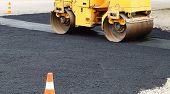 Paver Road Construction, Asphalt Concrete Pavementpaver Road Construction, Asphalt Concrete Pavement poster