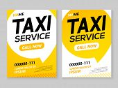 Taxi Service Layout Template Background. Automobile Taxi Service Design Concept Flyer Or Poster. poster