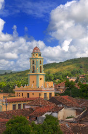 picture of landscapes beautiful  - A view of trinidad architecture and cuban landscape - JPG