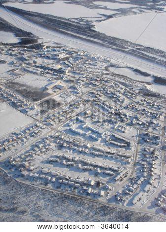 Inuvik Winter Aerial