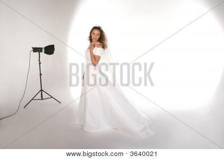Portrait Studio With Bride On The Set