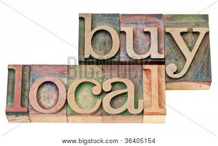 comprar local - texto isolado em madeira tipo de tipografia vintage