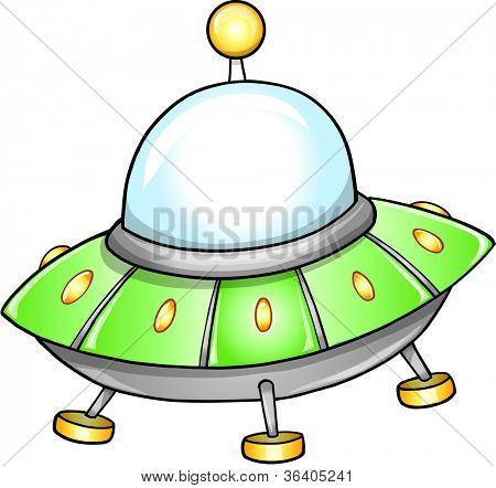 Flying Saucer UFO Vector illustration