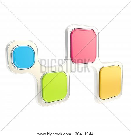 Abstract Backdrop Glossy Plate Composition Isolated