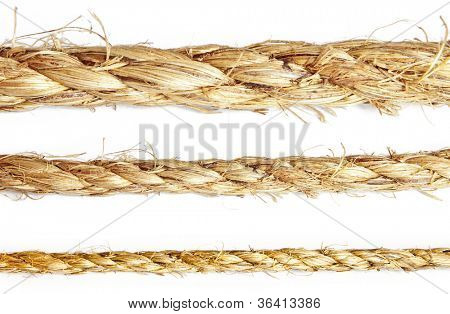 collection rope isolated oh teh white backgrounds