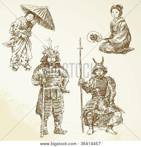 samurai - warrior in Japanese tradition
