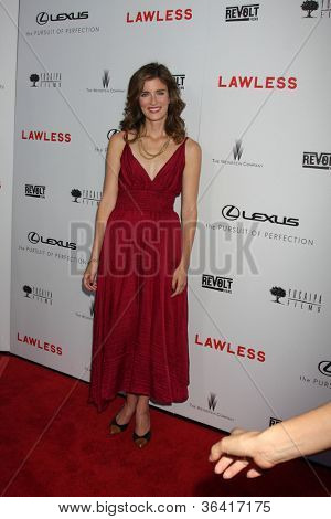 """LOS ANGELES - AUG 22:  Anna Wood arrives at the """"Lawless"""" LA Premiere at ArcLight Theaters on August 22, 2012 in Los Angeles, CA"""