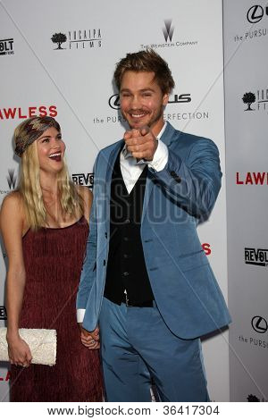 "LOS ANGELES - AUG 22:  Kenzie Dalton, Chad Michael Murray arrives at the ""Lawless"" LA Premiere at ArcLight Theaters on August 22, 2012 in Los Angeles, CA"