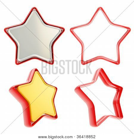Template Icon Emblems For Star Rate Voting Rating