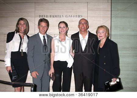 LOS ANGELES - AUG 23:  Colleen Bell, Bradley Bell, Lauralee Bell, Bill Bell, Jr; Lee Phillip Bell  arrive at
