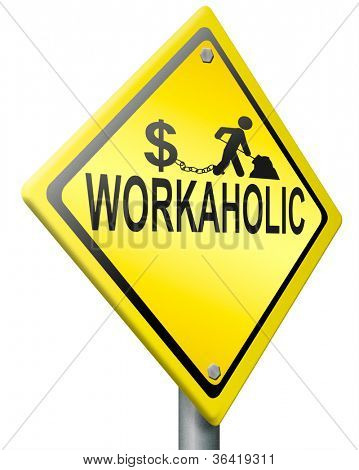 workaholic hard work, overworked and under paid job stress for earning money stressful career