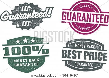 Vintage Style Guarantee Service Stamps