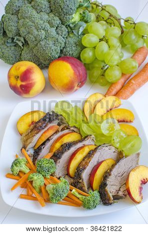 Roasted duck breast salad