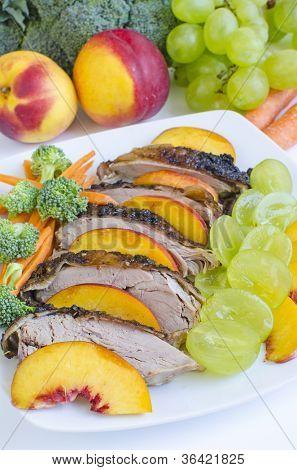 Roasted duck breast salad