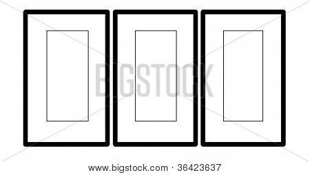 Blank Triptych Frames