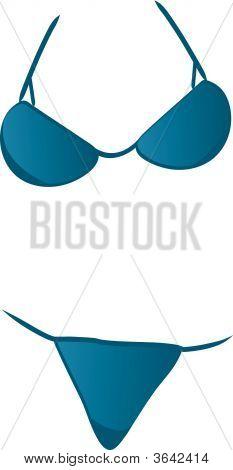 Bikini azul.