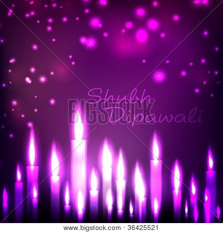 Illuminating candles theme for Diwali or Deepawali festival. EPS 10.