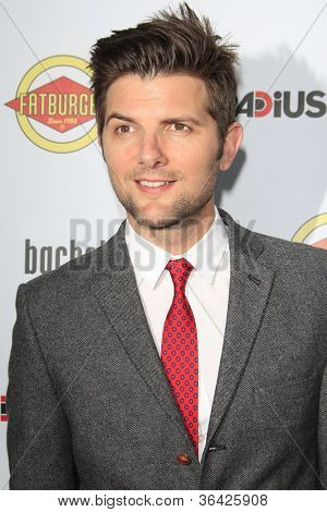 LOS ANGELES - AUG 23: Adam Scott at the premiere of RADiUS-TWC's 'Bachelorette' at ArcLight Cinemas on August 23, 2012 in Los Angeles, California
