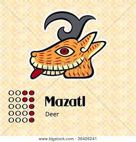 Aztec calendar symbols - Mazatl or deer (7)