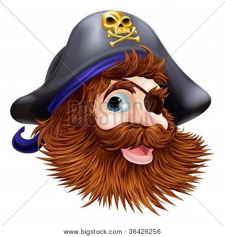 Pirate Face Illustration