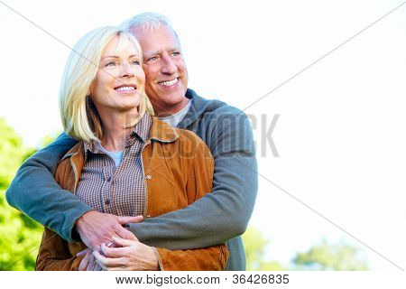 Happy senior couple having a fun together.