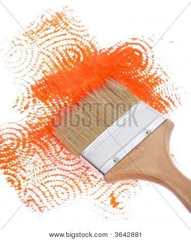 Brush With Orange Path