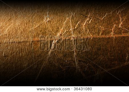 texture of the old gold embossing of cardboard close up