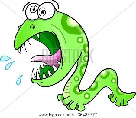 Crazy Insane Worm Vector Illustration