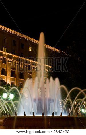 beleuchteten Brunnen