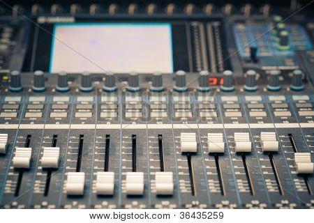 digital studio mixer faders