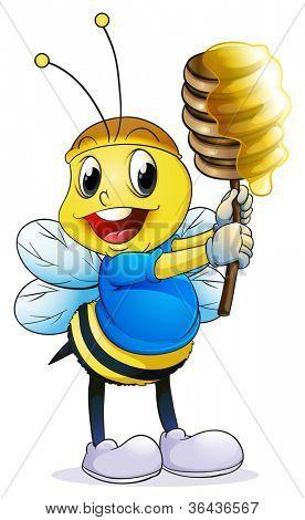 Abbildung der Honigbienen auf weißem Hintergrund