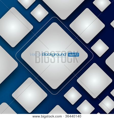 3D Shiny Rounded Squares on dark background | EPS10 Vector Illustration