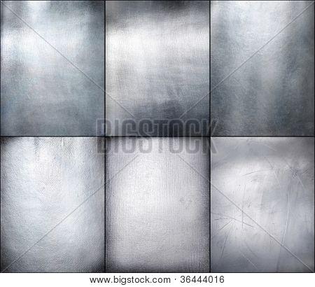 Set metal plate steel background. Hi res