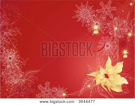 Red Christmas Background With Christmas Star.Eps