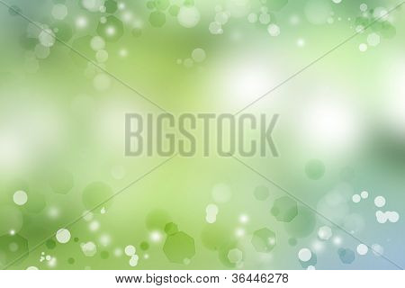 Abstract green and blue background