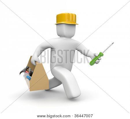 Worker hasten to help
