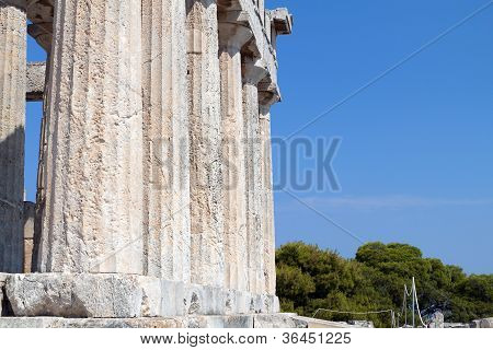 Classical ancient temple in Greece