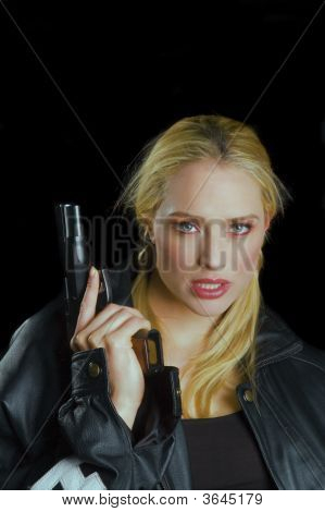 Blond With Gun