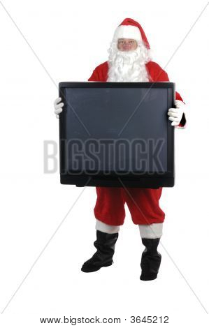 Pleasant Man In Santa Suit