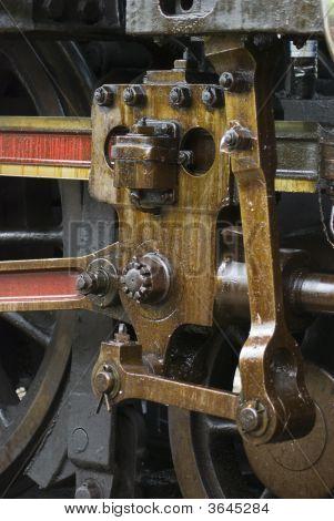 Detail der Dampf-Motor