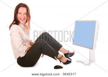 Businnesswoman Surfing