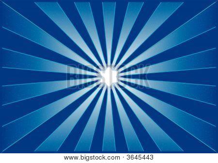 Blue Shining Starburst