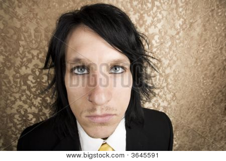 Rock And Roll Businessman Looking Up