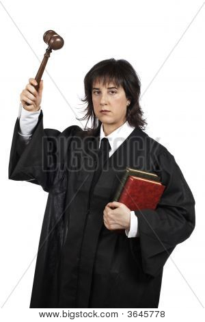 Serious Female Judge