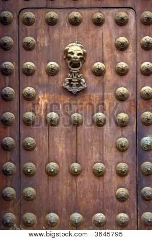 Wooden Door Of The Liima Cathedral