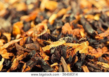Closeup view of smoking tobacco